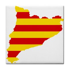 Flag Map Of Catalonia Tile Coasters