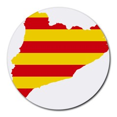 Flag Map Of Catalonia Round Mousepads