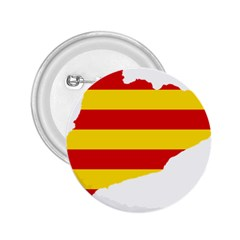 Flag Map Of Catalonia 2.25  Buttons