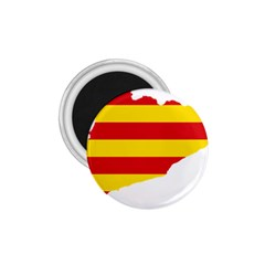 Flag Map Of Catalonia 1.75  Magnets