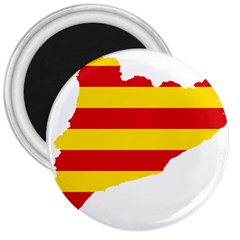 Flag Map Of Catalonia 3  Magnets