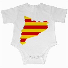 Flag Map Of Catalonia Infant Creepers