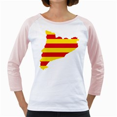 Flag Map Of Catalonia Girly Raglans