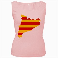 Flag Map Of Catalonia Women s Pink Tank Top
