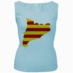 Flag Map Of Catalonia Women s Baby Blue Tank Top