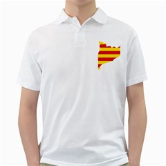 Flag Map Of Catalonia Golf Shirts