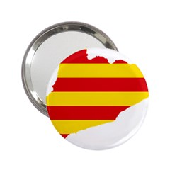Flag Map Of Catalonia 2.25  Handbag Mirrors