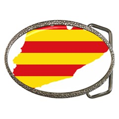 Flag Map Of Catalonia Belt Buckles
