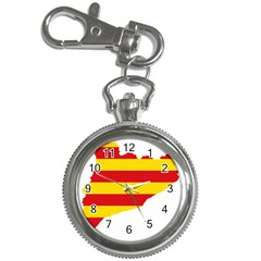 Flag Map Of Catalonia Key Chain Watches