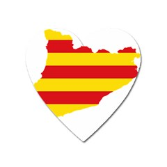 Flag Map Of Catalonia Heart Magnet