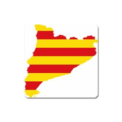 Flag Map Of Catalonia Square Magnet