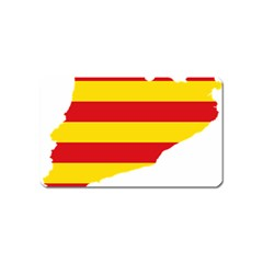 Flag Map Of Catalonia Magnet (Name Card)