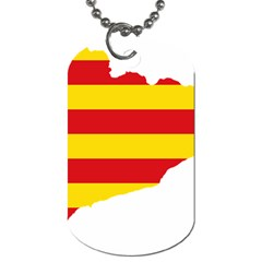Flag Map Of Catalonia Dog Tag (One Side)