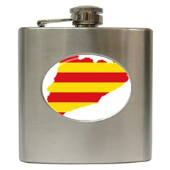Flag Map Of Catalonia Hip Flask (6 Oz)