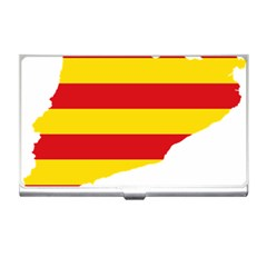Flag Map Of Catalonia Business Card Holders