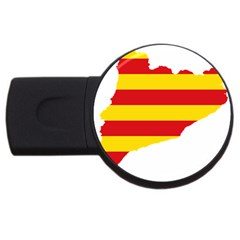 Flag Map Of Catalonia USB Flash Drive Round (2 GB)