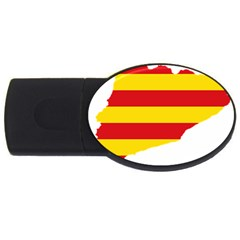 Flag Map Of Catalonia USB Flash Drive Oval (1 GB)