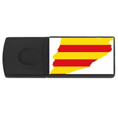 Flag Map Of Catalonia USB Flash Drive Rectangular (1 GB)