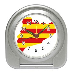 Flag Map Of Catalonia Travel Alarm Clocks
