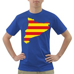 Flag Map Of Catalonia Dark T-Shirt