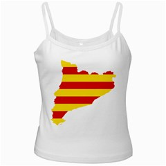 Flag Map Of Catalonia Ladies Camisoles