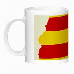 Flag Map Of Catalonia Night Luminous Mugs