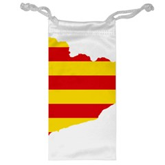 Flag Map Of Catalonia Jewelry Bags