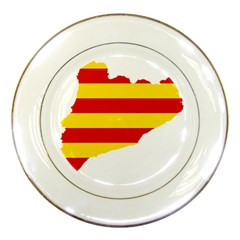 Flag Map Of Catalonia Porcelain Plates
