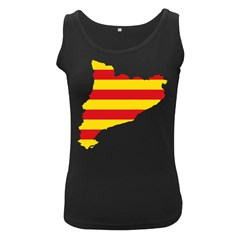 Flag Map Of Catalonia Women s Black Tank Top