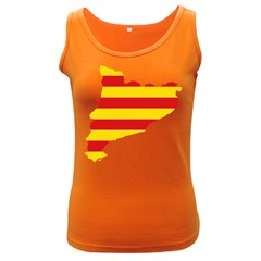 Flag Map Of Catalonia Women s Dark Tank Top