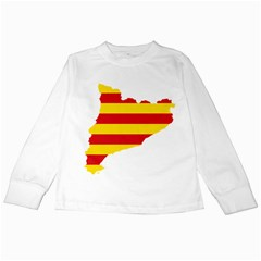 Flag Map Of Catalonia Kids Long Sleeve T-Shirts