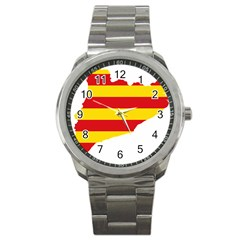 Flag Map Of Catalonia Sport Metal Watch