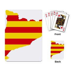 Flag Map Of Catalonia Playing Card