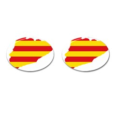 Flag Map Of Catalonia Cufflinks (Oval)