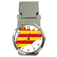 Flag Map Of Catalonia Money Clip Watches