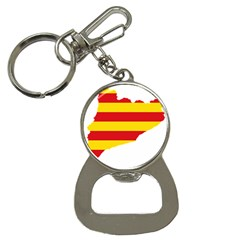 Flag Map Of Catalonia Bottle Opener Key Chains