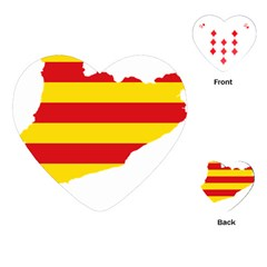Flag Map Of Catalonia Playing Cards (Heart)