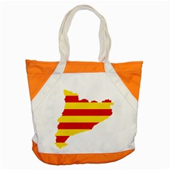 Flag Map Of Catalonia Accent Tote Bag