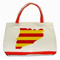 Flag Map Of Catalonia Classic Tote Bag (Red)