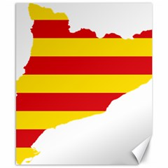 Flag Map Of Catalonia Canvas 8  x 10