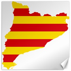 Flag Map Of Catalonia Canvas 12  x 12