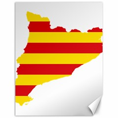 Flag Map Of Catalonia Canvas 12  x 16