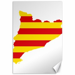 Flag Map Of Catalonia Canvas 12  x 18