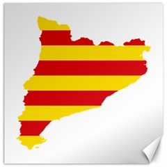 Flag Map Of Catalonia Canvas 16  x 16