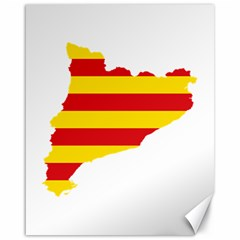 Flag Map Of Catalonia Canvas 16  x 20