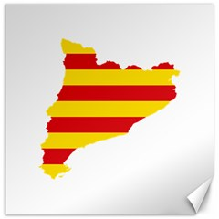 Flag Map Of Catalonia Canvas 20  x 20