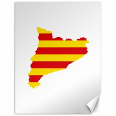 Flag Map Of Catalonia Canvas 18  x 24