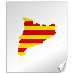 Flag Map Of Catalonia Canvas 20  x 24