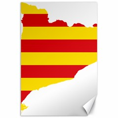 Flag Map Of Catalonia Canvas 24  x 36