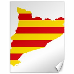 Flag Map Of Catalonia Canvas 36  x 48